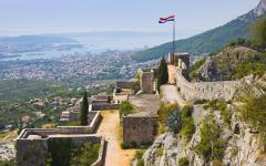 Looking out from the Fortress of Klis onto Split, Croatia.