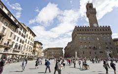 The Palazzo Vecchio is the town hall of Florence, Italy.
