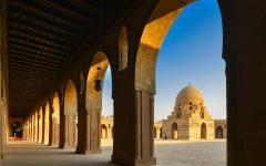 Mosque of Ibn Tulun in Cairo.
