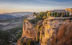 spain andulsia view of ronda village