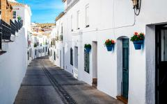 spain andalusia street of white houses