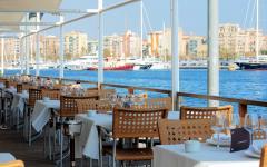 spain barcelona restuarant overlooking the sea