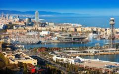 spain barcelona sea port montjuic