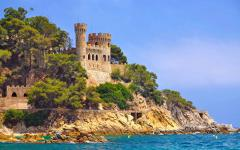 spain fortress on the seacoast of costa brava