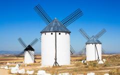 spain toledo white windmills of consuegra