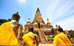 Temple of Ayutthaya in Thailand.