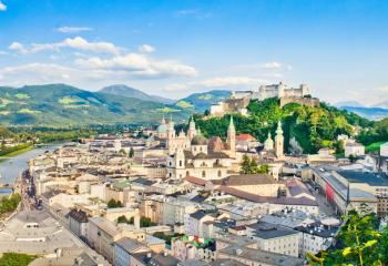 A panorama of Salzburg, Austria's fourth-largest city.