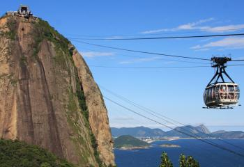 The best way to see Christ the Redeemer is to ride the cable car.