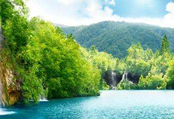 Plitvice Lakes National Park is the oldest and largest national park in Croatia.