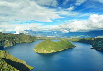 The Cuicocha Lake and Caldera in Ecuador.