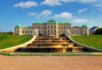 The Belvedere Palace in Vienna, Austria.