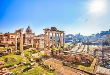 The ruins of the Roman Forum, Rome, Italy.