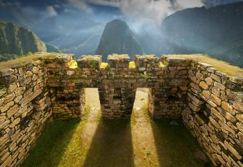 The ruins of Machu Picchu in Peru.
