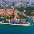 The city of Zadar lies on the Adriatic coast in Croatia.