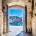 The city gate in Trogir, Croatia.