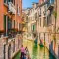 A gondolier in Venice.