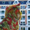 spain bilbao floral sculpture