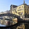 The Naviglio Grande is a canal in Lombardy, northern Italy.