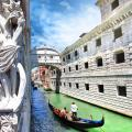 Bridge of Sighs, legendary historic bridge, and one of the most famous landmarks in Venice.