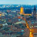 Piazzale Castel san Pietro in Verona, Italy.