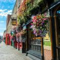 Pubs in Dublin, Ireland.