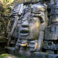 Th mask temple in Maya city Lamanai.