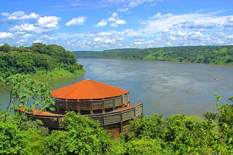 A viewing platform in the Brazilian Amazon.