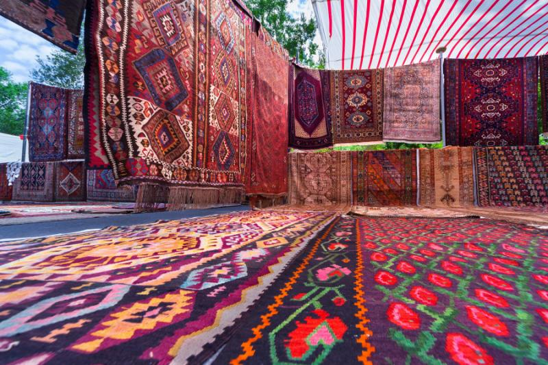 Traditional carpet and rugs in Armenia.