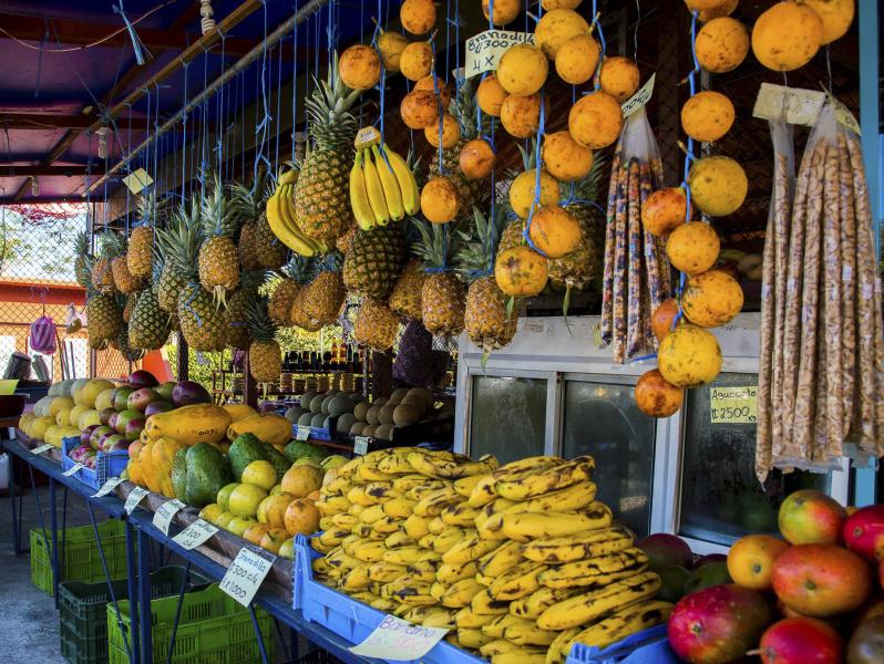 Tropical fruit stand in Costa Rica