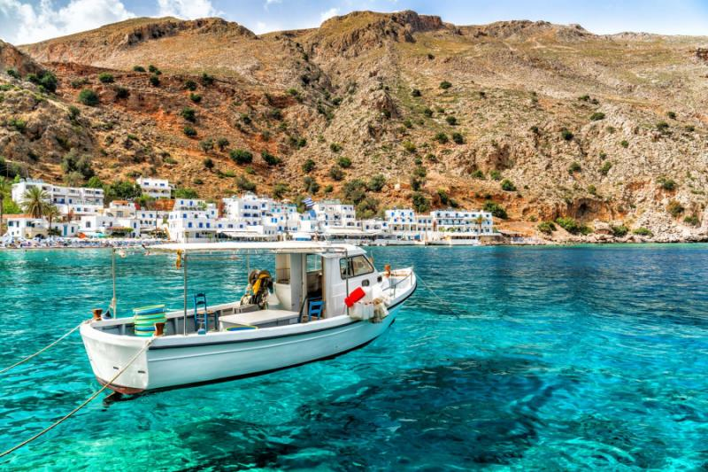 Loutro in Crete, Greece. Credit: Shutterstock.