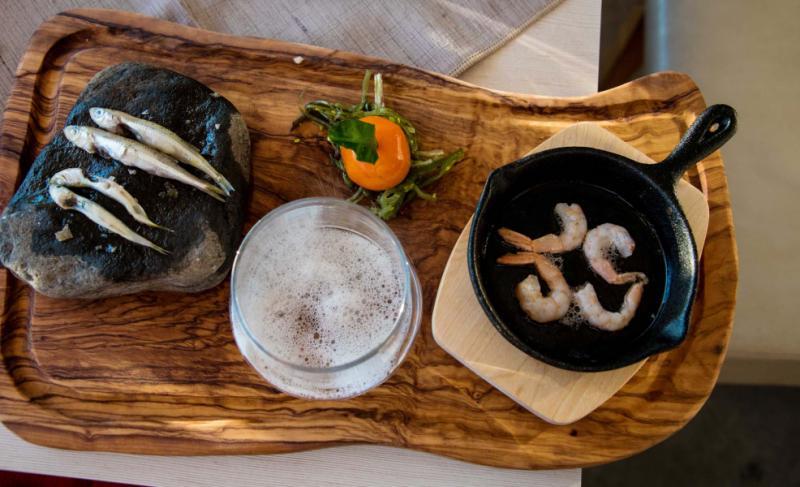 Mediterranean Tasting Menu in Santorini, Greece. Credit: Brian Tan.