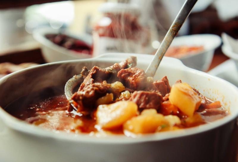 Goulash traditional soup.
