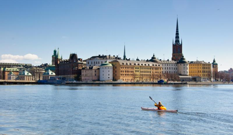 Kayaking in Stockholm