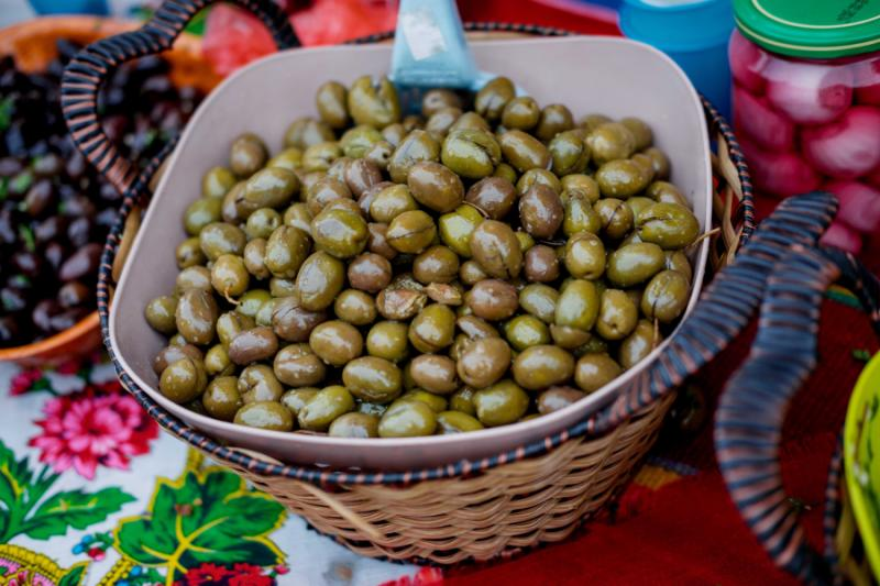Green olives, Montenegro.