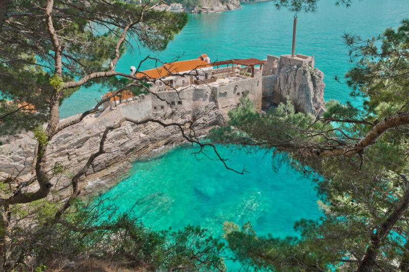Old Venetian Castello  fortress located in Montenegro.