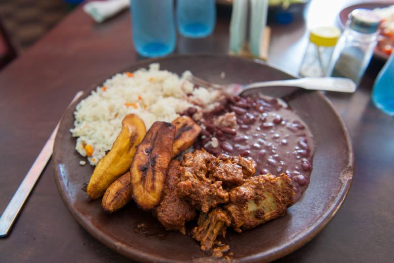 A typical lunch in Nicaragua
