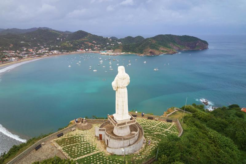 San Juan del Sur hosts one of the ten latgest statues of Jesus in the world