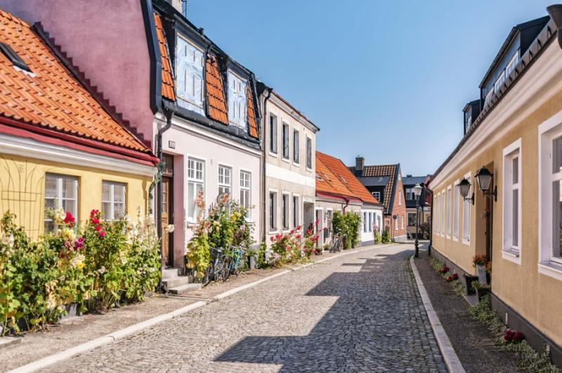 Street in the famous town of Ystad