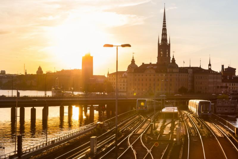 Railway near Stockholm's main station