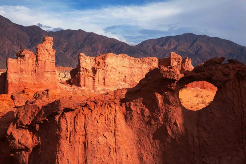 Argentina Salta Rock Formation on Tango Steps