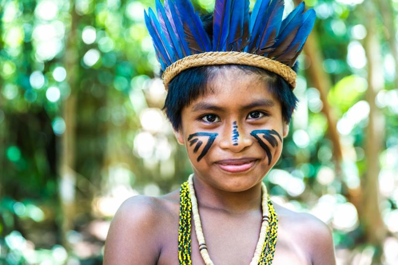 Amazon forest girl pic