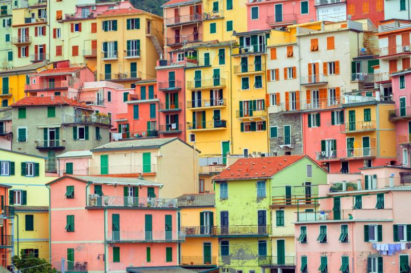 Colorful Houses In Manarola Italy
