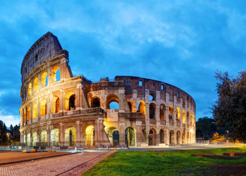 The Colosseum in the Morning. Rome, Italy. Credit: Shutterstock.