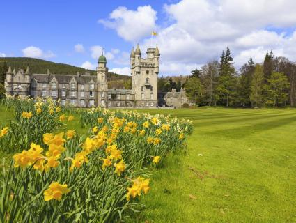 Balmoral Castle, the Royal Family's summer home, in Scotland.