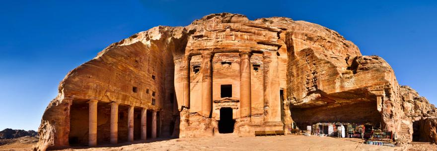 The ruins of Petra in Jordan.