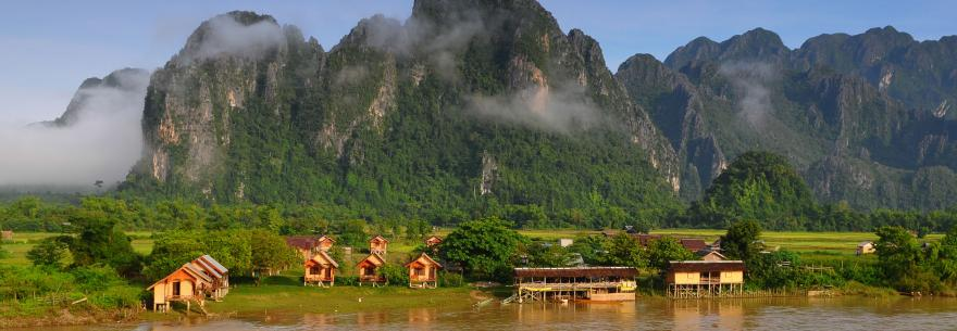 A view of the countryside in Laos.