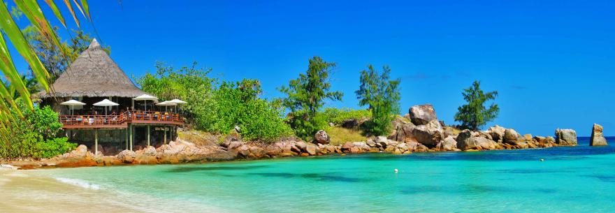 A beautiful scene in the Seychelles.