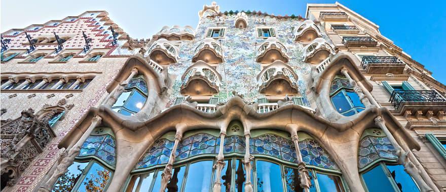 Casa Batllo by Gaudi in Barcelona, Spain