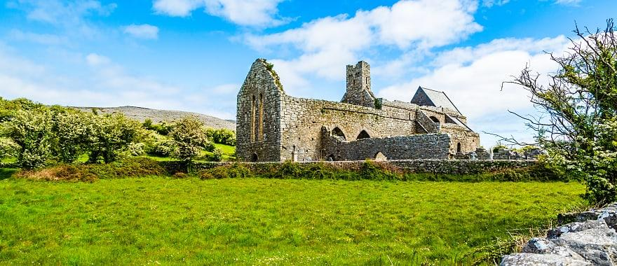 Corcomroe Abbey Ruins in Burren region of County Clare, Ireland.