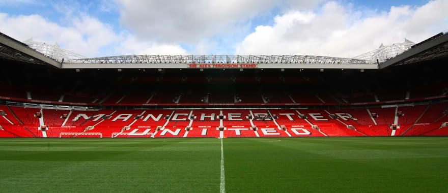 Old Trafford Stadium, home to Manchester United Foodball Club in England